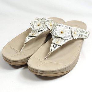 FitFlop Thong Sandals Womens Sz 10.5/41 White